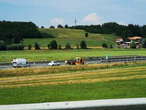 Incidente sulla Torino-Savona a Fossano: coinvolta una moto