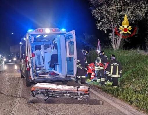 Moto fuori strada a Borgomale: grave un 45enne