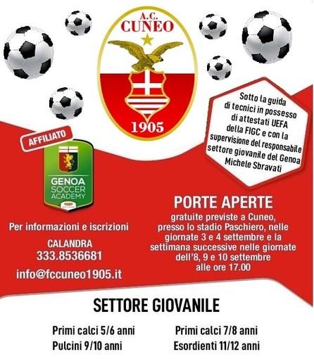Se il tuo sogno è giocare al glorioso stadio Paschiero, iscriviti alle porte aperte FC Cuneo 1905!