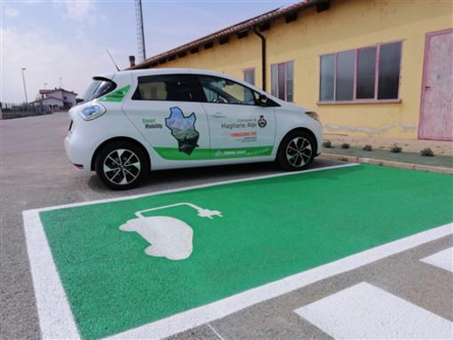 """Magliano Alpi, è il """"green day"""": attive le colonnine di ricarica per veicoli elettrici"""