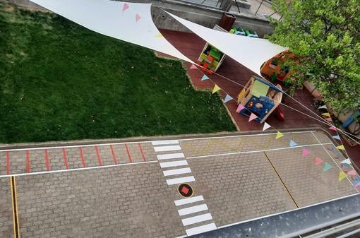 Inaugurato il rinnovato cortile esterno della scuola materna Milena Cavallo di Piasco
