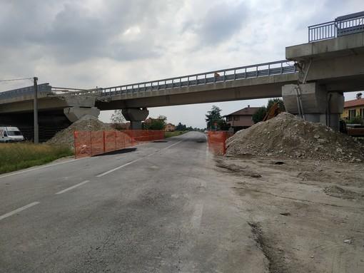 Il viadotto Levaldigi sopra via Ceresolia