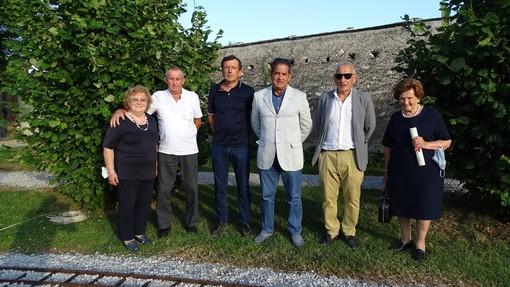 Da sinistra: Maria Teresa Cavallo, Luigi Boschiazzo, Claudio Penna, Luigi Capocchia, Simone Quaglia, Luigia Calandri ved. Elia