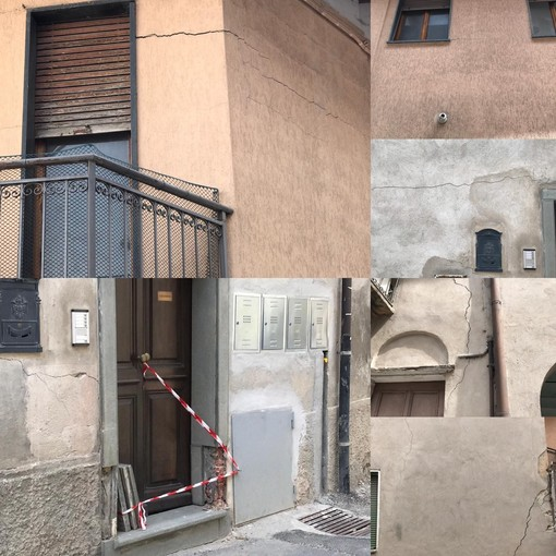 Tre case dichiarate inagibili in via Grandis a Borgo San Dalmazzo: evacuata una famiglia (FOTO)