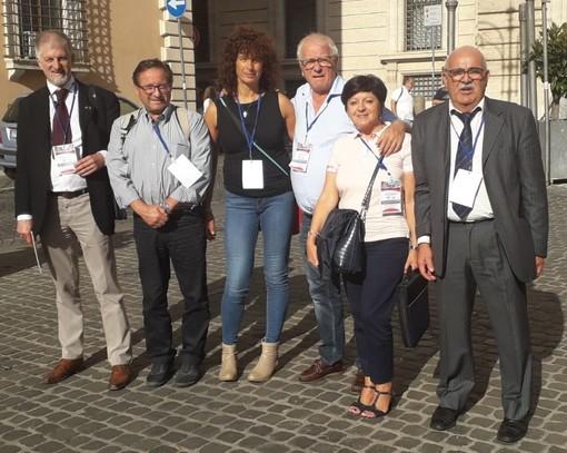 La delegazione della provincia di Cuneo all'Assemblea nazionale di Roma