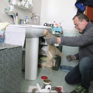 Un idraulico al lavoro