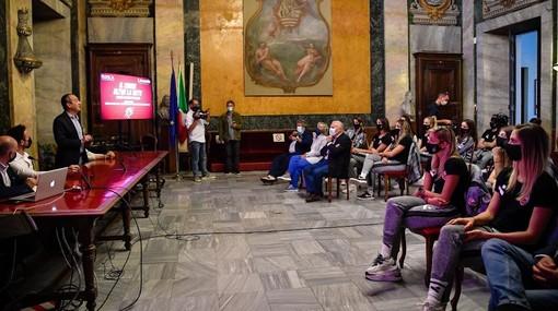 Un momento della presentazione della campagna abbonamenti nel Salone d'Onore del Comune di Cuneo (credit Danilo Ninotto)