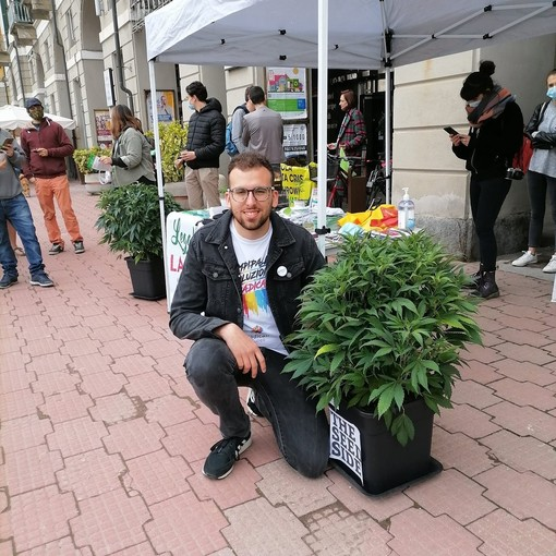 """Cannabis legale, manifestazione dei Radicali a Cuneo con il segretario nazionale: """"Regaleremo semi e gadget"""""""