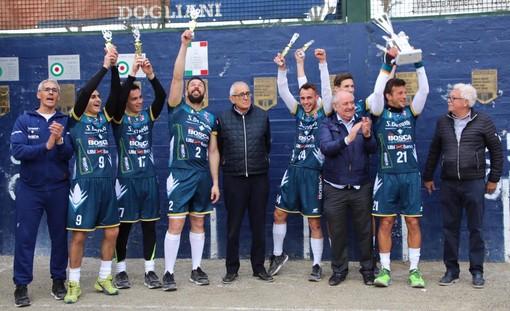 Pallapugno - L'Acqua S.Bernardo Spumanti Bosca Cuneo si aggiudica la Supercoppa