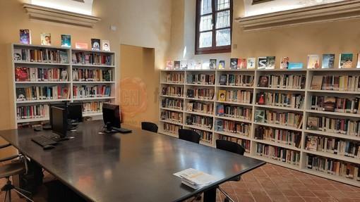 La sede della nuova biblioteca civica di Demonte al piano terra di Palazzo Borelli