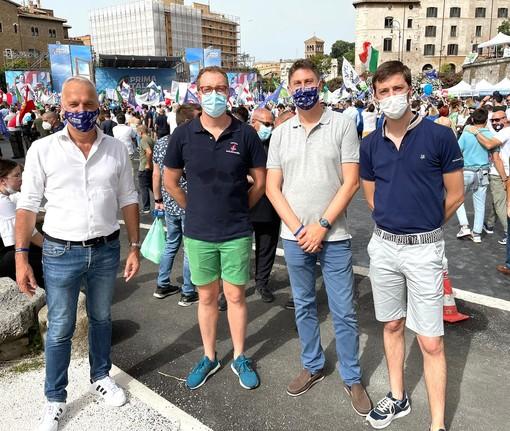 """Manifestazione Lega: a Roma, per un'Italia """"bella, libera e giusta"""" anche molti cuneesi"""
