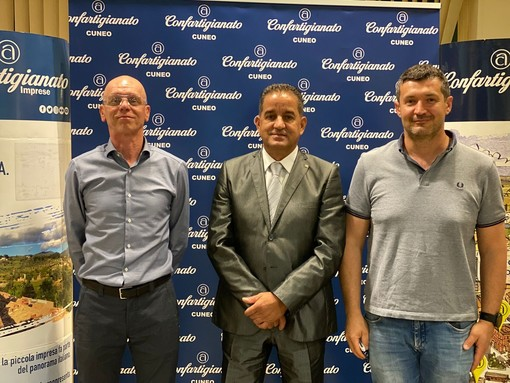 Bra – presidenza. Da sinistra: Paolo Campigotto (vicepresidente), Luigi Capocchia (presidente di zona), Maurizio Fantino (vicepresidente vicario).