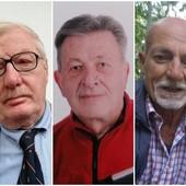 I tre candidati: da sinistra Cornara, Degioanni e Sorbera
