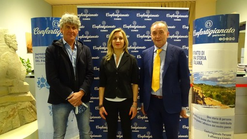 Presidenza zonale: da sinistra Marco Risso (vicepresidente), Katia Manassero (presidente), Adriano Giordana (vicepresidente vicario)