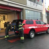 Maltempo in provincia di Alessandria: colonna mobile dei vigili del fuoco di Cuneo partiti per Ovada