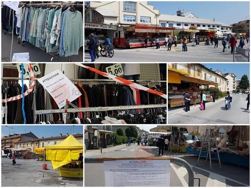 Anche a Borgo San Dalmazzo è tornato il mercato: oltre ai 24 banchi alimentari altri 52 venditori ambulanti di abbigliamento, scarpe e oggettistica (FOTO)