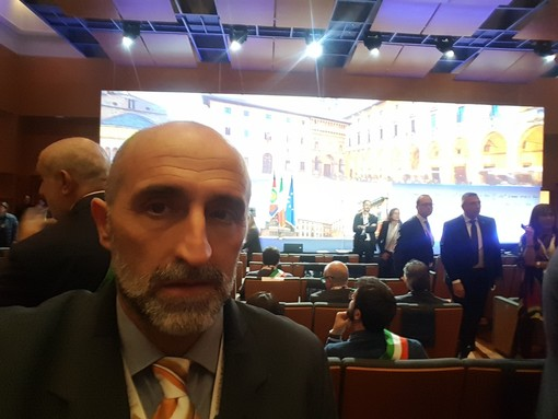 Il sindaco di Rifreddo Cesare Cavallo ha partecipato all'assemblea nazionale dell'Anci di Arezzo