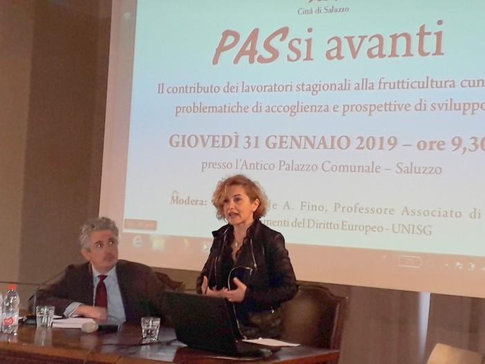 Saluzzo, l'assessora regionale Monica Cerutti al seminario PASsi avanti