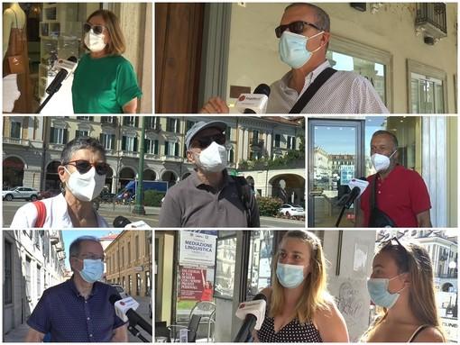 """Niente mascherine all'aperto dal 28 giugno. """"Una buona notizia, ma serve buonsenso"""". È il parere unanime dei cuneesi che abbiamo intervistato mercoledì mattina in centro"""