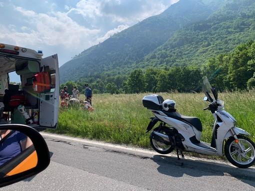 Ciclista si infortuna lungo la Sp 22 tra Entracque e Valdieri. Interviene ambulanza