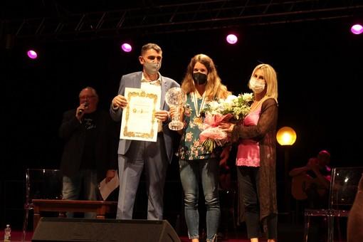 Marta Bassino sul palco di Fossano