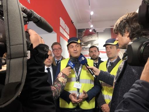 """Cirio visita l'Alstom di Savigliano: """"Siamo qui perché vogliamo una regione vicina alle imprese, vogiamo un 'Piemonte business friendly'"""""""
