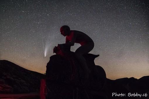 La cometa Neowise catturata al Fauniera, luogo simbolo per tutti i ciclisti