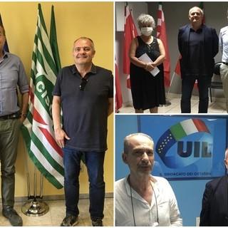 Giancarlo Boselli incontra i Segretari Generali di Cgil Cisl e Uil della Provincia.