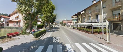 Corso Mazzini a Borgo San Dalmazzo