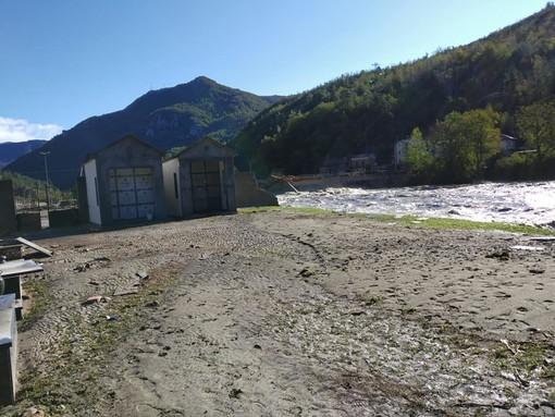 Il cimitero di Trappa dopo l'alluvione (Foto Facebook Umberto Ferraris)