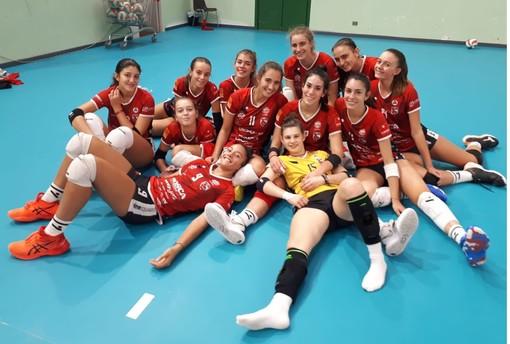 Le ragazze della Serie B2 dopo il test congiunto con Serteco e Lunezia