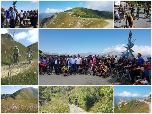 In 100 alla prima edizione della PedalElva per promuovere la Strada dei Cannoni che si inerpica lungo il crinale tra Valle Varaita e Valle Maira (FOTO E VIDEO)