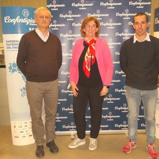 La neoeletta presidenza di Confartigianato Cuneo – Zona di Dronero. Da sinistra: Giorgio Veutti (vicepresidente vicario), Michela Alladio (presidente), Alessandro Dao (vicepresidente)