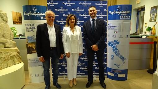 Presidenza, da sinistra: Pier Felice Chiabrando (vicepresidente vicario), Daniela Minetti (presidente di zona), Walter Tredesini (vicepresidente)