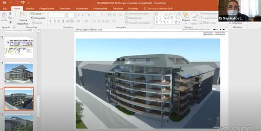 Una slide del progetto come presentata in commissione consiliare