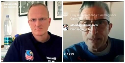 Il Cuneo Volley a casa di Crazy Lucky Lucchetta