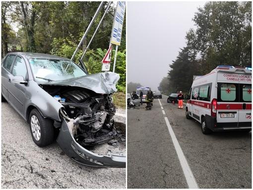 Frontale sulla provinciale 592 fra Santo Stefano Belbo e Canelli, 4 feriti