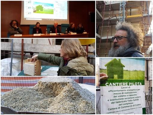 """Calce legno e canapa """"made in Granda"""" per migliorare le prestazioni energetiche degli edifici pubblici: ecco il progetto pilota alla Camera di commercio di Cuneo (VIDEO)"""