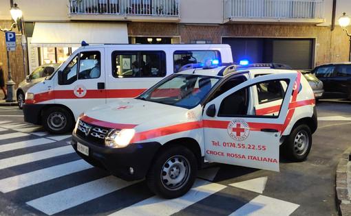 Due mezzi del Comitato CRI di Mondovì utilizzati per il trasporto delle persone in quarantena ad Alassio