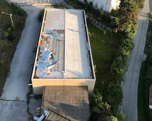 """Il capannone visto dall'alto (foto Giovanni """"John"""" Aimo)"""