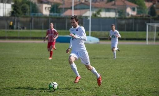 De Peralta in azione (foto - pagina fb saluzzo calcio)