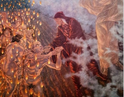 Dante in un'illustrazione di Amos Nattini