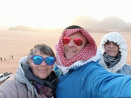 Anche dal deserto del Wadi Rum si legge Targatocn... e voi?