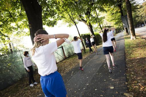 Cuneo, il Viale degli Angeli pedonale ospita la ripartenza delle attività di educazione fisica (FOTO E VIDEO)