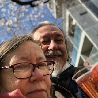 Tokio: Enrico Perlo e la moglie Helen