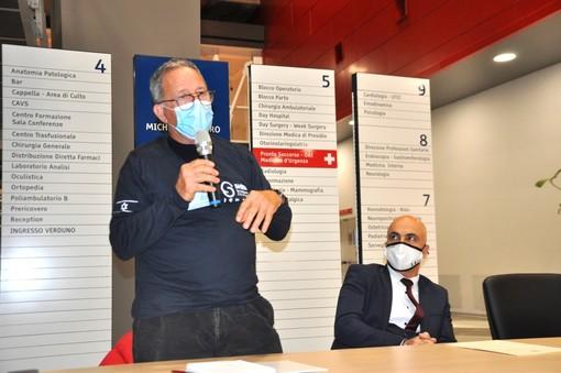 Il capo delegazione Elhanan Bar On, a sinistra, con l'ambasciatore israeliano in Italia Dror Eydar