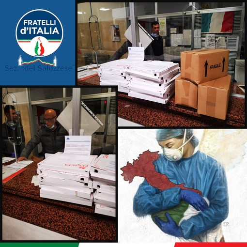 Coronavirus, il gruppo di Fratelli d'Italia saluzzese supporta la Croce Verde di Saluzzo