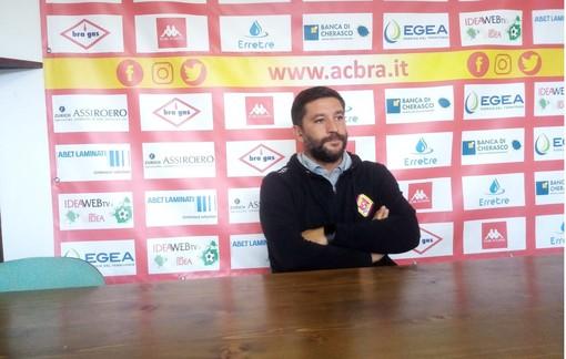 """Calcio Serie D, Floris al termine di Bra-Pont Donnaz: """"Vittoria meritata, siamo stati bravi sotto ogni aspetto"""" (VIDEO)"""