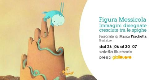 """A Mondovì inaugura """"Figura Messicola"""" la mostra personale di Marco Paschetta dedicata a """"immagini disegnate cresciute tra le spighe"""""""