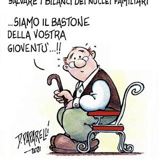 La Festa dei nonni secondo il vignettista Danilo Paparelli